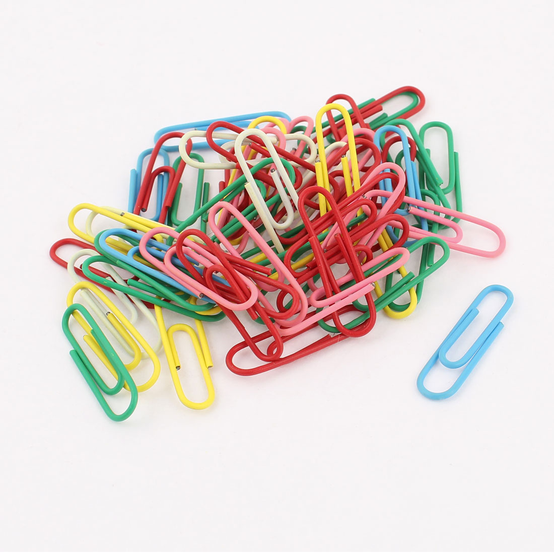 Officer Colorful Label File Note Bookmark Paper Clips Clamps 54 Pcs