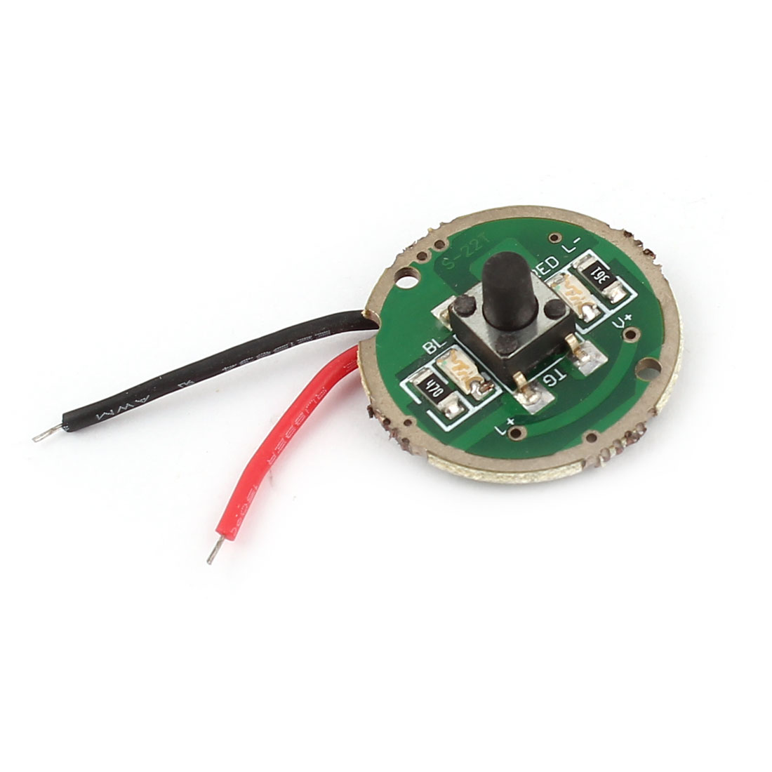 22mm Dia 2 Wires T6 LED C12 Flashlight Torch Driver Circuit Board