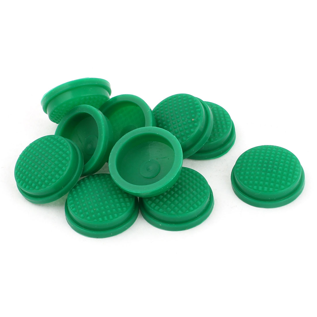 10pcs 17mm Dia Protective Waterproof Silicone Switch Cover Guard Green