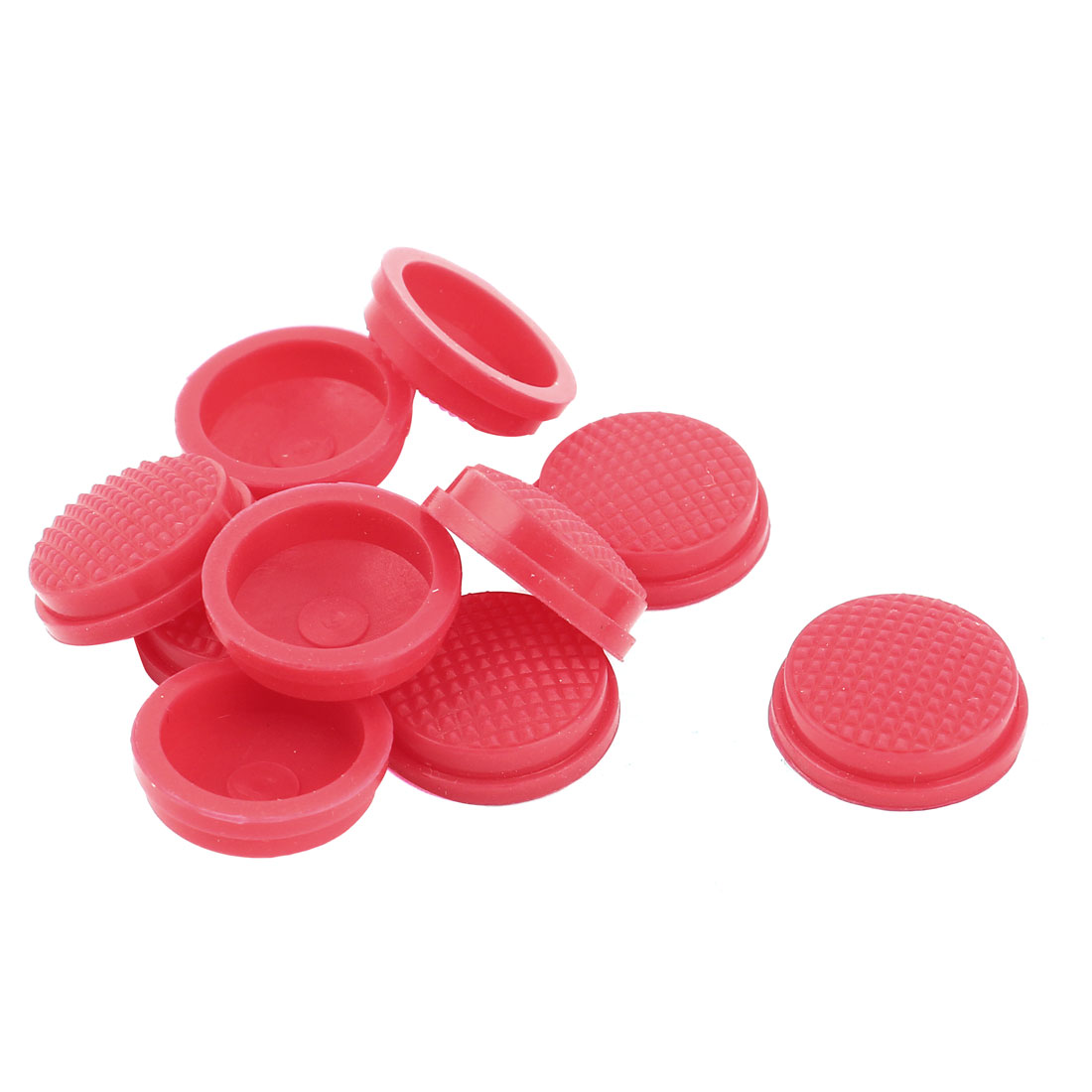 10pcs 18mm Dia Waterproof Cover Cap Case Red for Round Head Rocker Switch