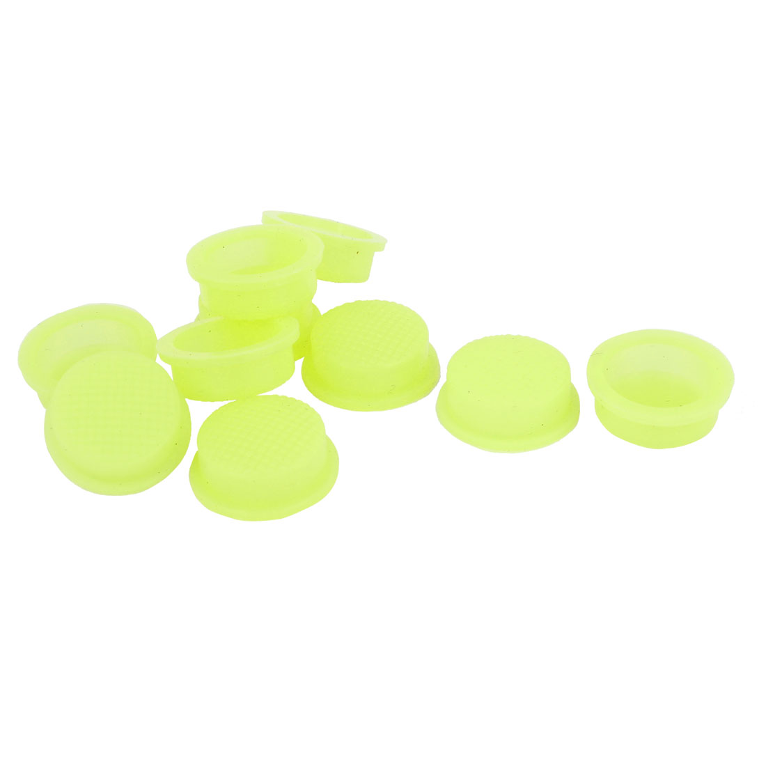 10 Pcs Silicone Waterproof Cover Guard Protector Yellow for 13mm Dia Head Switch