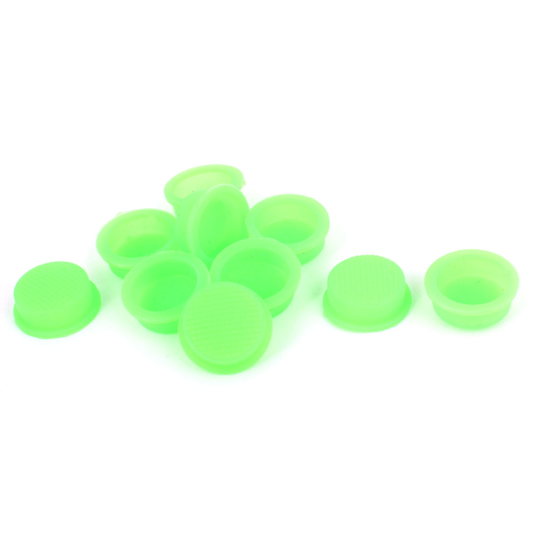 10pcs 13mm Dia Waterproof Cover Cap Guard Green for Round Head Rocker Switch