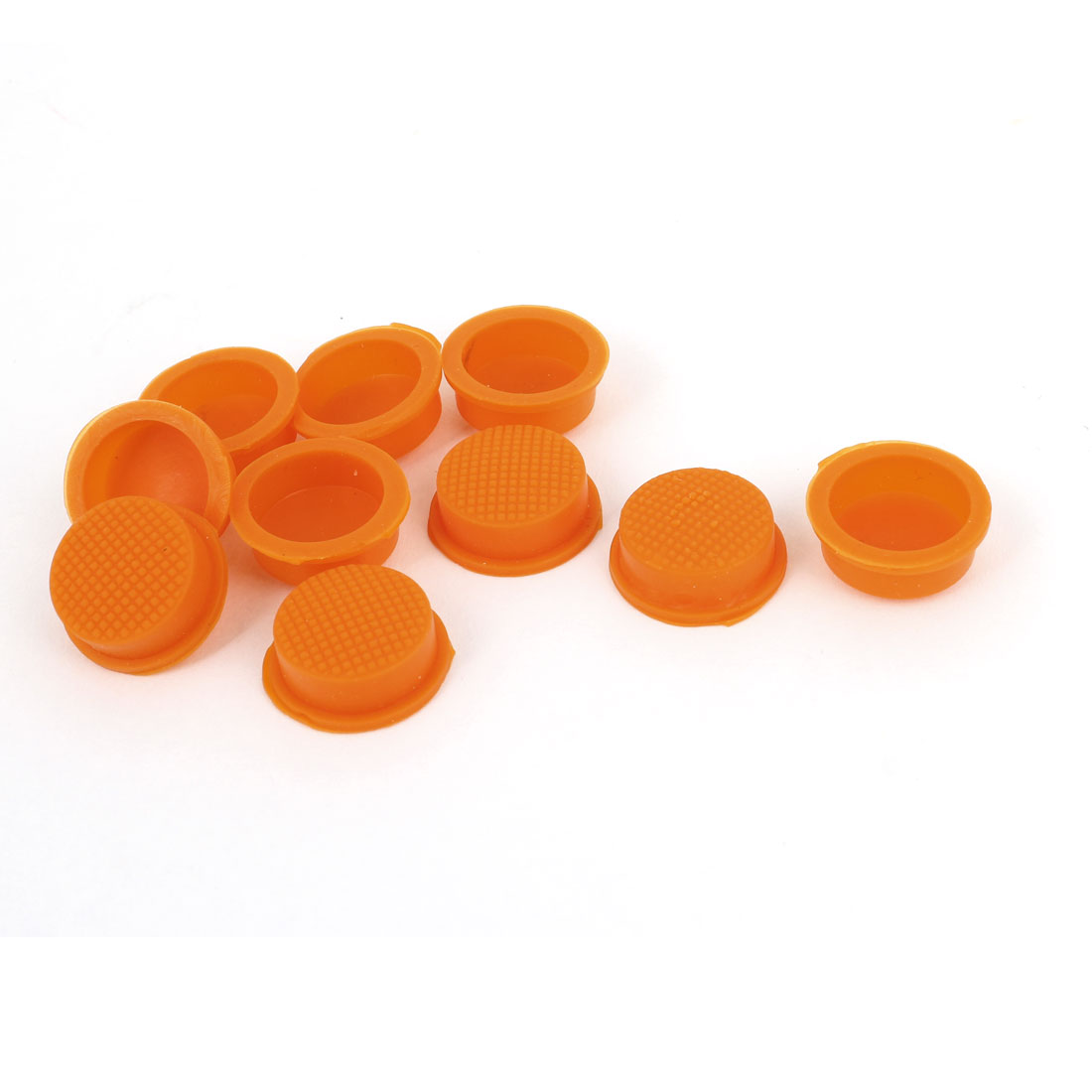 10 Pcs 13mm Dia Waterproof Cover Cap Case Orange for Round Head Rocker Switch