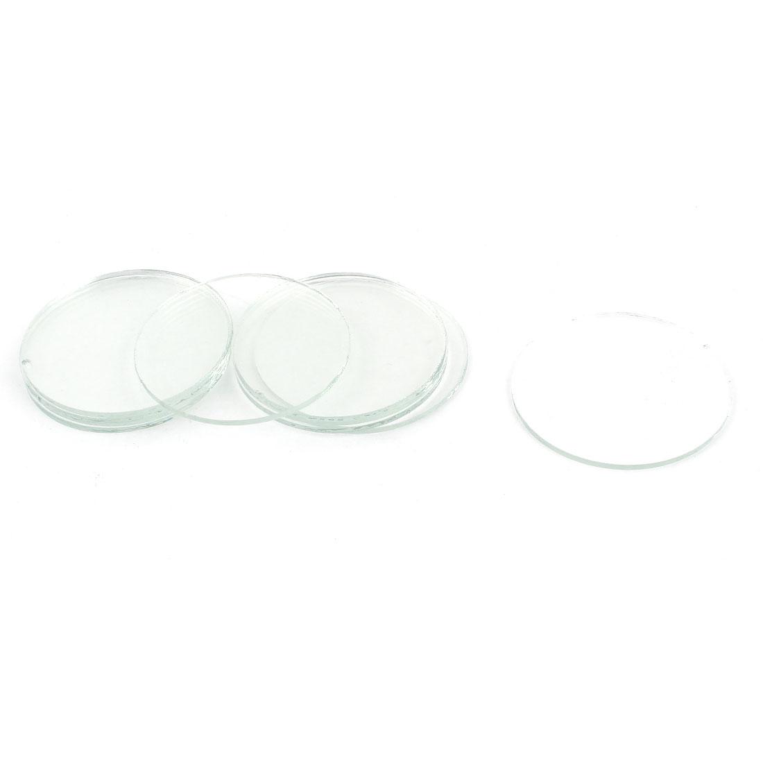 C8 LED Flashlight Torch Clear Round Flat Glass Lens 42mm Diameter 10 Pcs