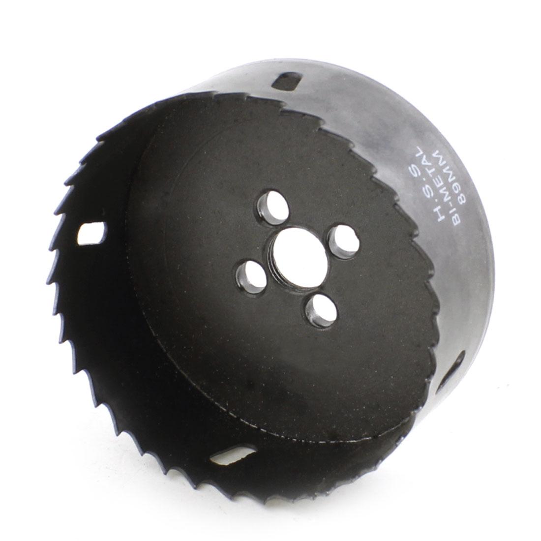 HSS 89mm Cutting Dia Wood Aluminum Alloy Cutting Tool Bimetal Hole Saw
