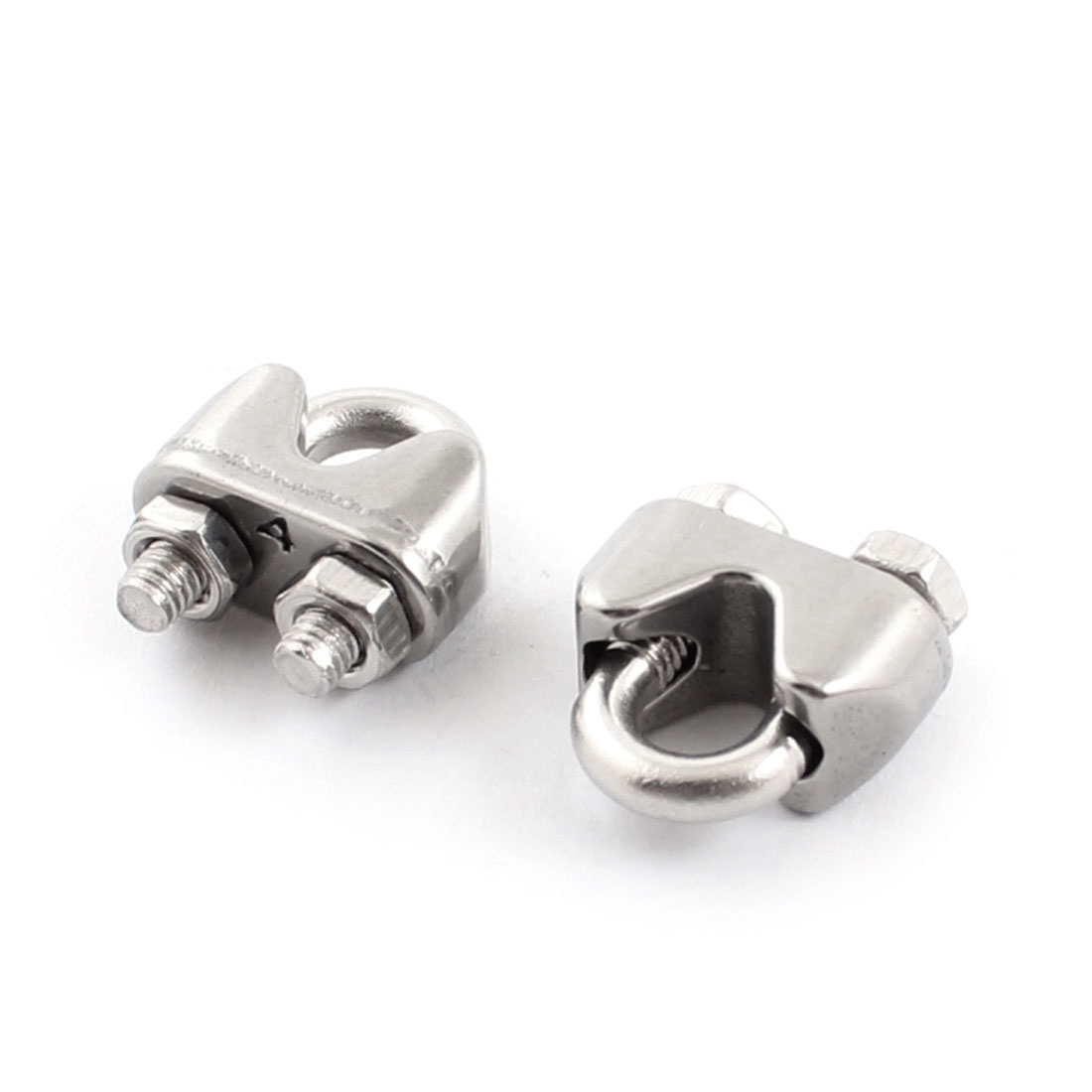 "2pcs Stainless Steel Cable Clip Saddle Clamp for 5/32"" 4mm Wire Ropes"