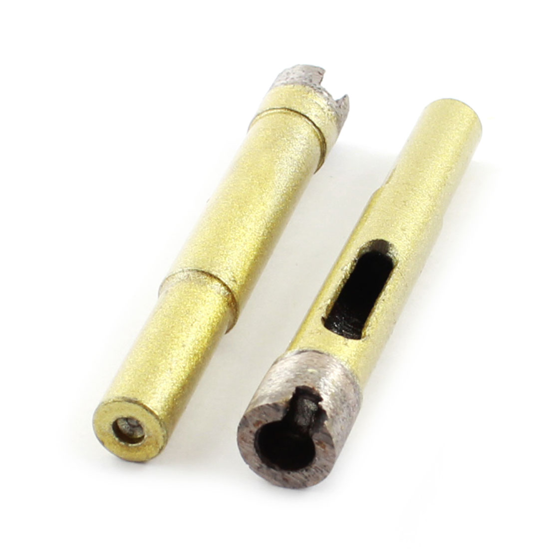 2PCS Gold Tone 10mm Dia Diamond Marble Granite Cutting Hole Saws