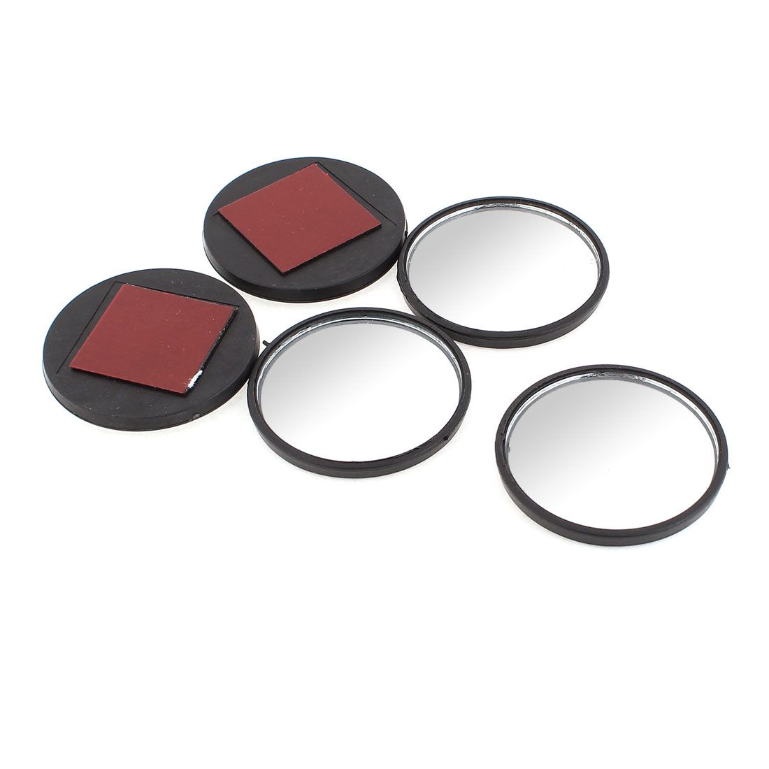 5 Pcs Self-Adhesive Car Rear View Blind Spot Round Mirrors 52mm Dia Black