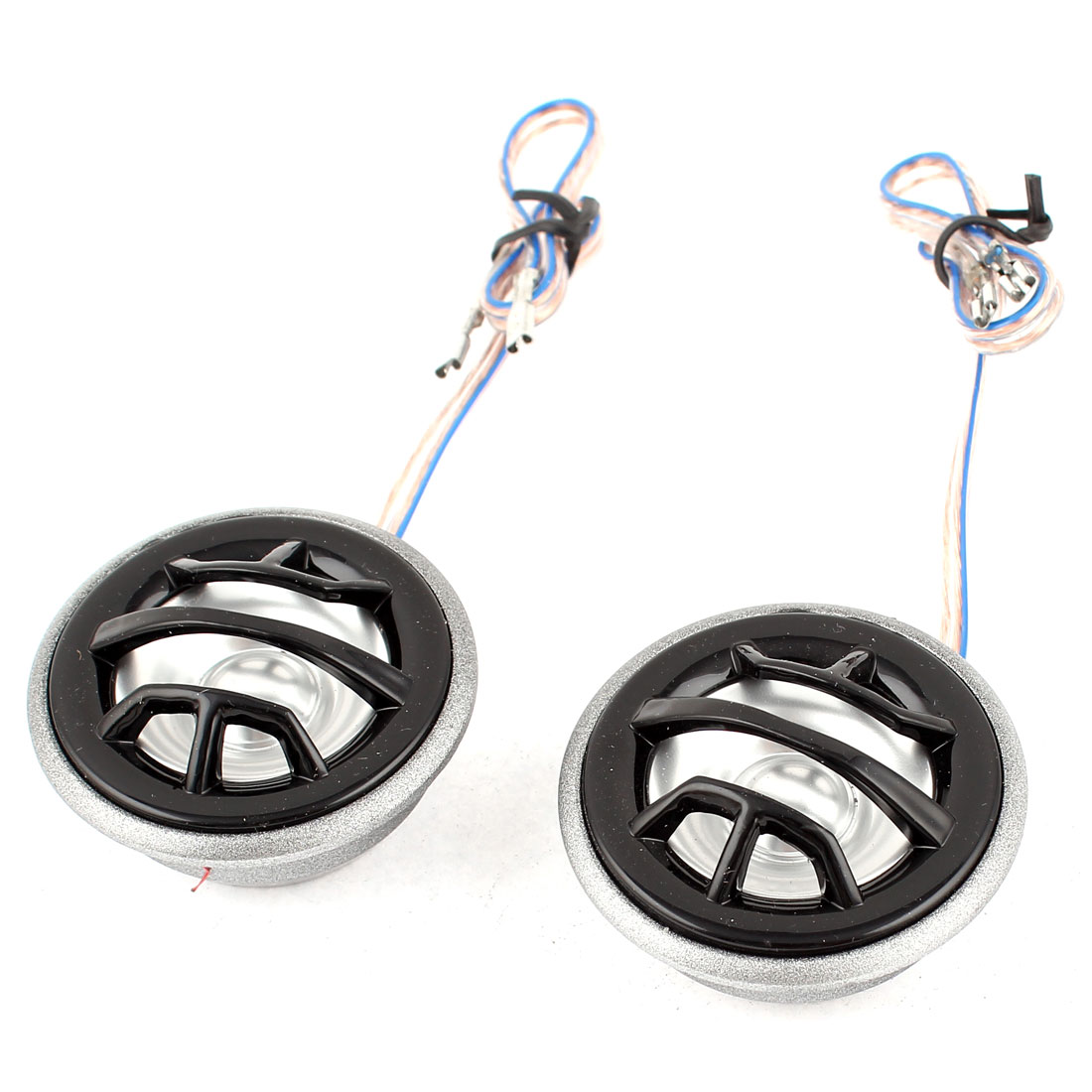 Car Black Flush Mount 4 Ohm Stereo Audio Loud Music Speaker Dome Tweeters 150W Pair