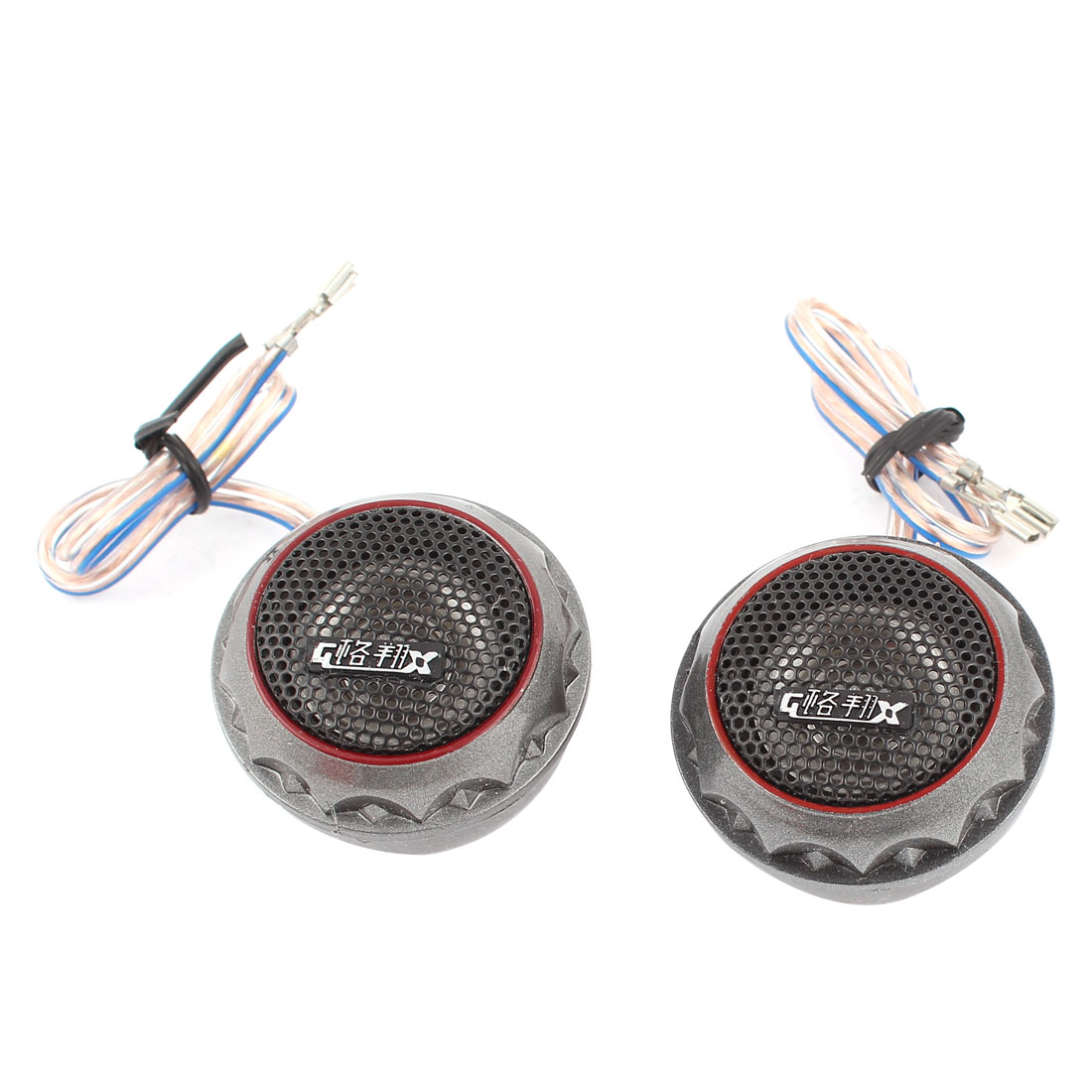2 Pcs 180W 4 Ohm Black Shell Audio System Dome Tweeter 45mm Dia for Car