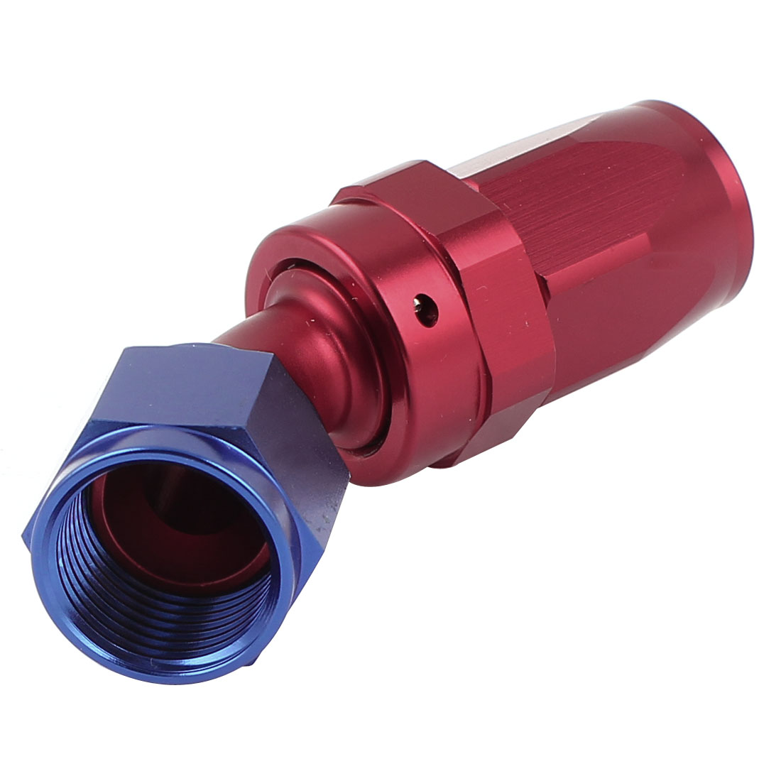 45 Degree Joint Swivel Oil Fuel Gas Line Hose Pipe End Adapter Connector