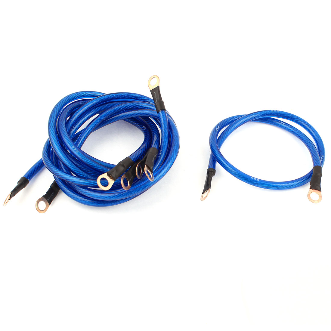 Auto Car Universal Ground Grounding Wire Cable Kit Blue 5 in 1