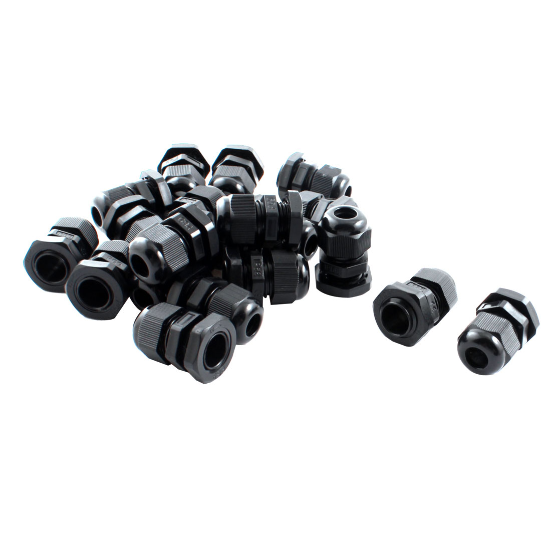 20Pcs Waterproof Fixing Gland Connector PG9 for 4-8mm Dia Cable Wire