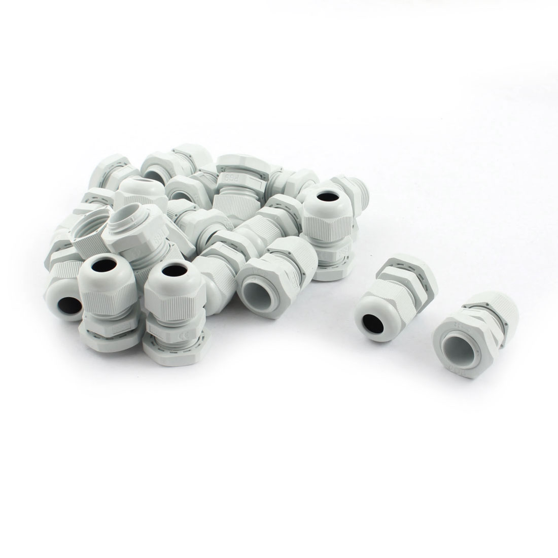 Nylon Waterproof Cord Grip 4-8mm Dia Cable Glands Connector PG9 20Pcs