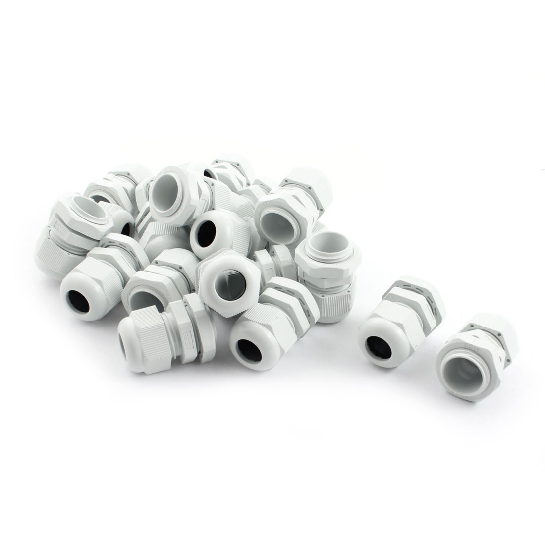 20Pcs Waterproof Gland Connector PG11 w Nut for 5-10mm Dia Cable Wire