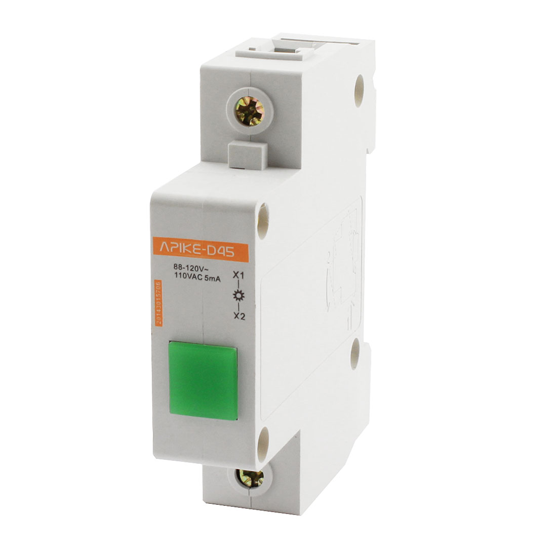 AC 110V 5mA Green LED Modular Electrical Power Signal Indicator Light Lamp