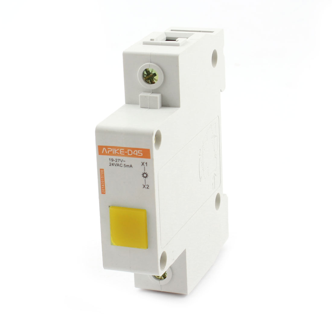 Beige Plastic Shell AC 24V 5mA Yellow LED Modular Power Indicator Light Lamp