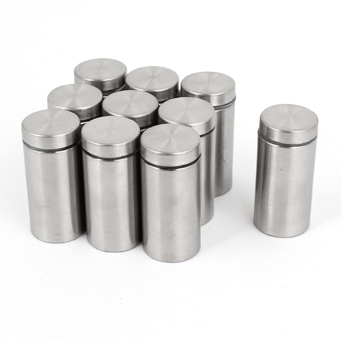 10pcs Silver Tone Stainless Steel Advertising Nail Class Standoff 19mmx40mm