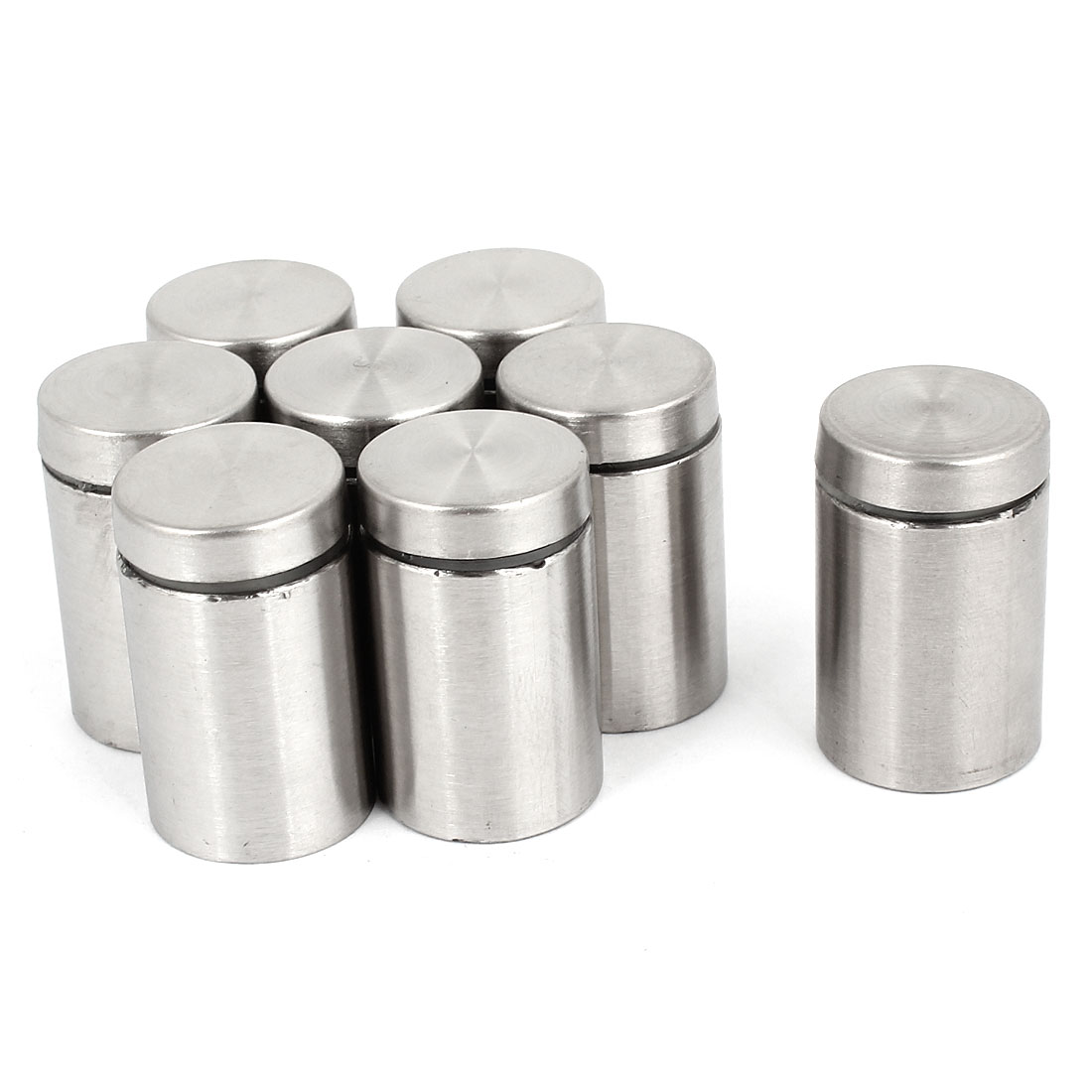 8pcs Silver Tone Stainless Steel Advertising Nail Class Standoff 19mm x 30mm