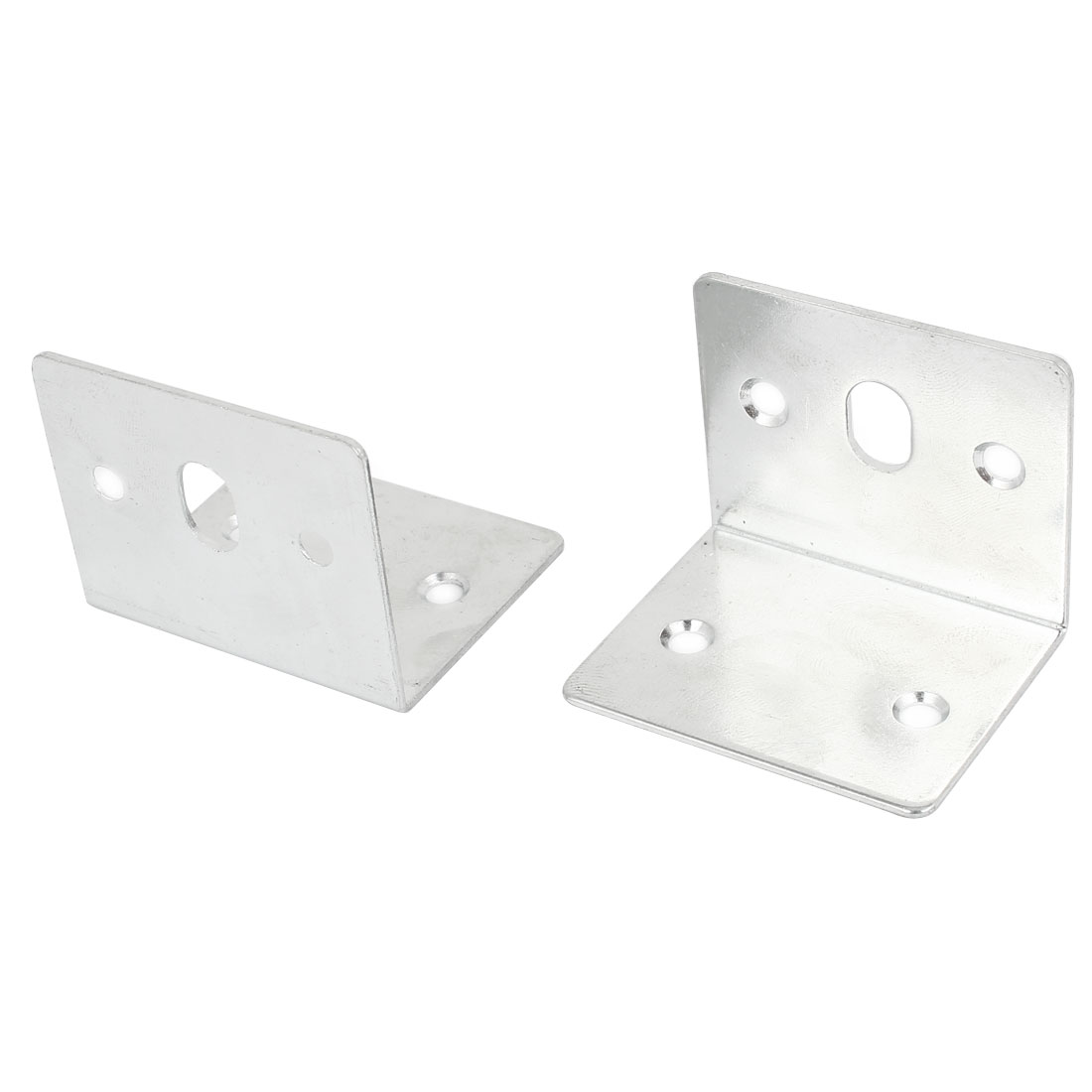 Shelf Door 40mm x 40mm 90 Degree Corner Angle Brackets Silver Tone 2 Pcs