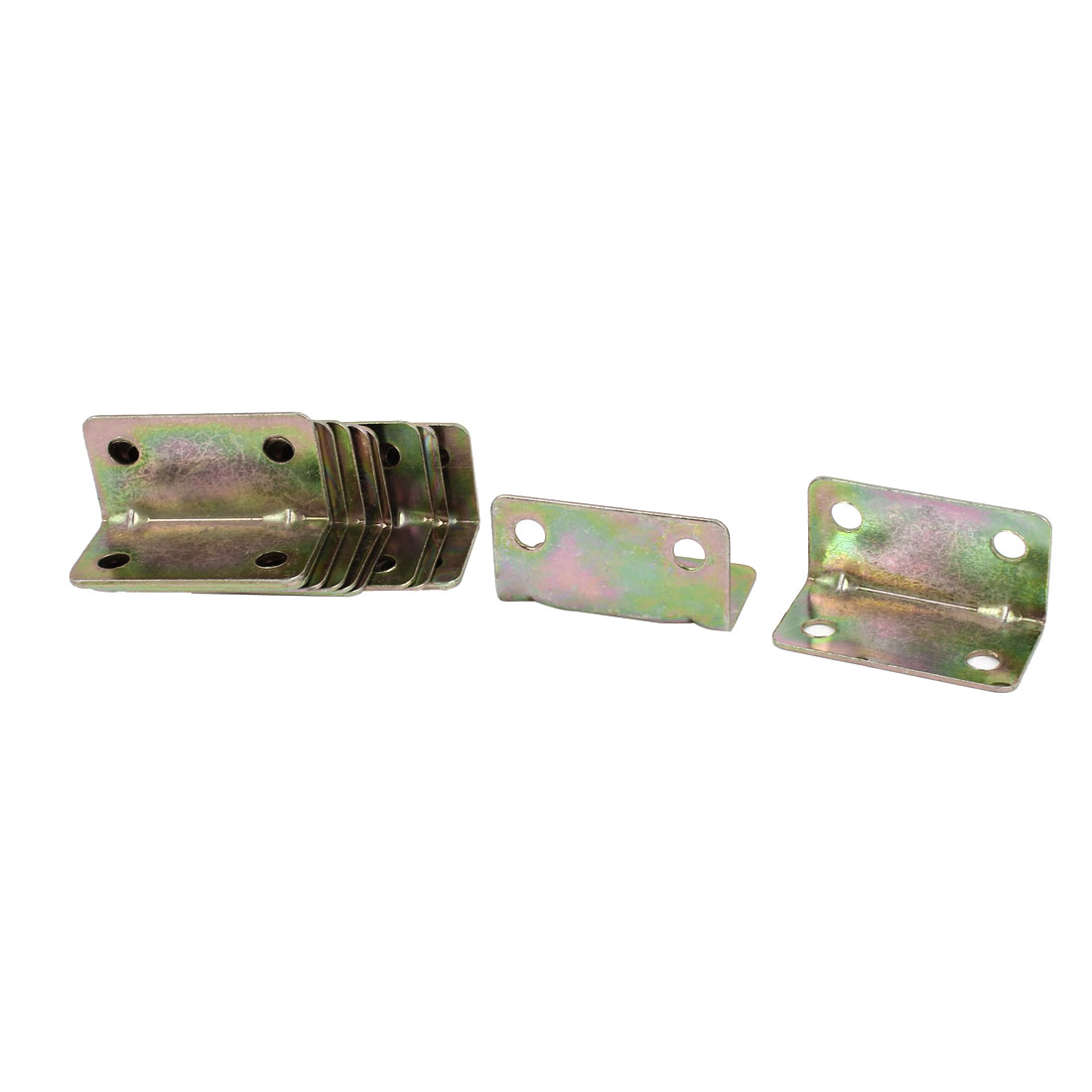 Chair Door 20mm x 20mm 90 Degree Corner Angle Brackets Bronze Tone 15 Pcs