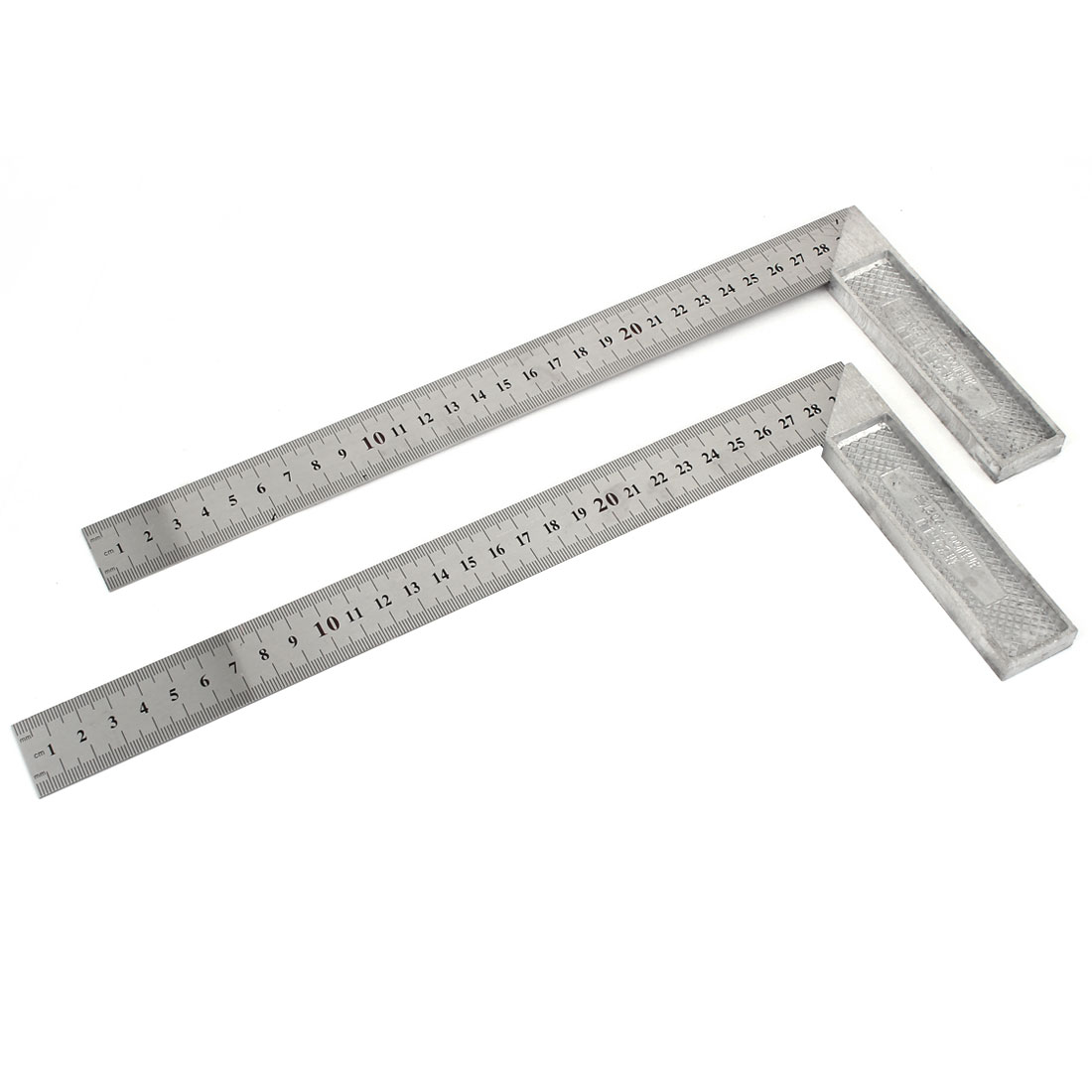2pcs Right Angle 30cm Scale L Square Ruler Woodworking Tool