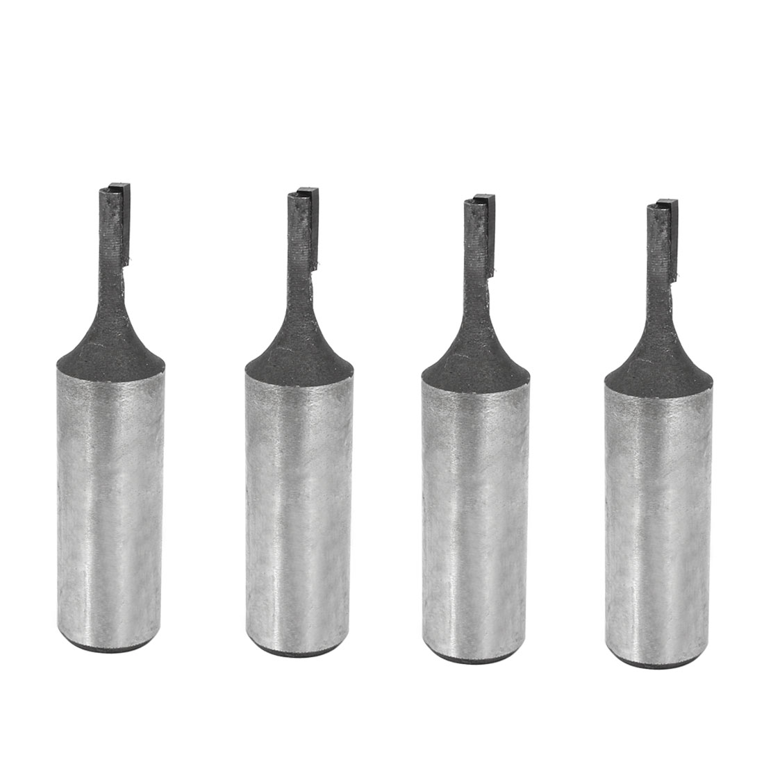 "Carpentry 1/2"" Shank 5/32"" Cutting Dia Single Flute Straight Router Bit 4 Pcs"