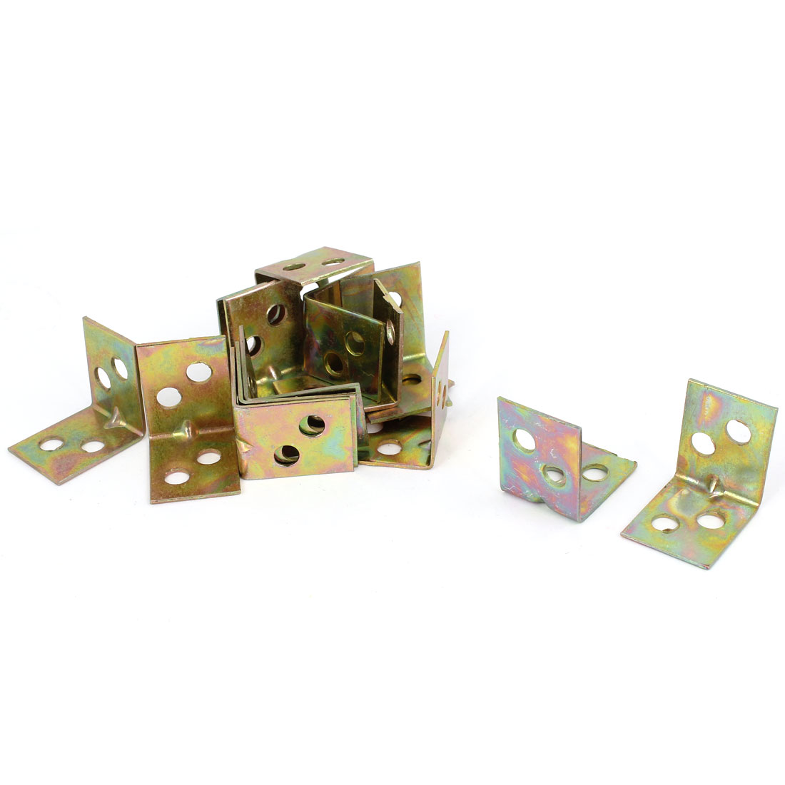 Shelf Door 20mm x 20mm 90 Degree Corner Angle Brackets Bronze Tone 15 Pcs