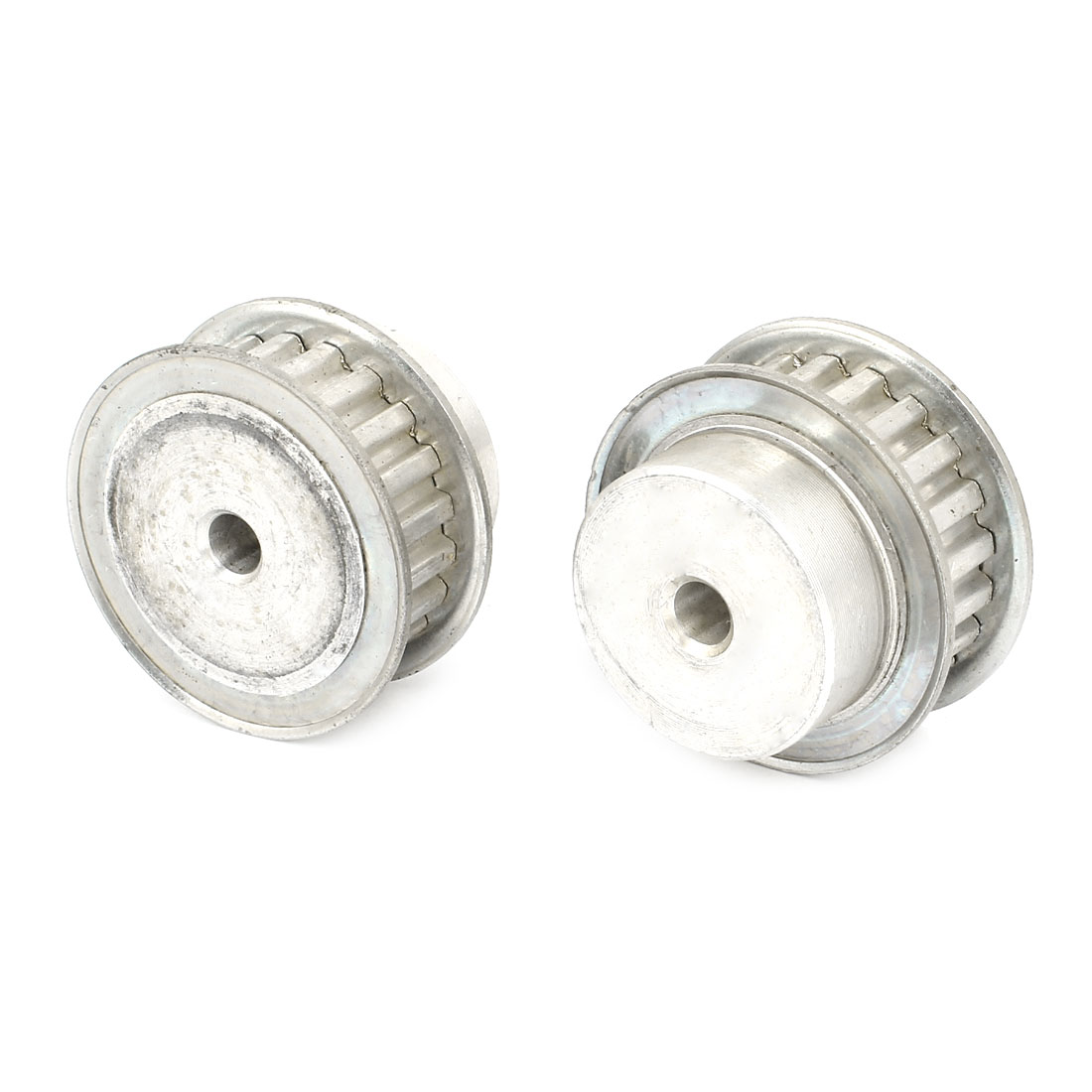 2 Pcs Stainless Steel XL Type 21T 6mm Pitch 6mm Diameter Bore Timing Belt Pulley