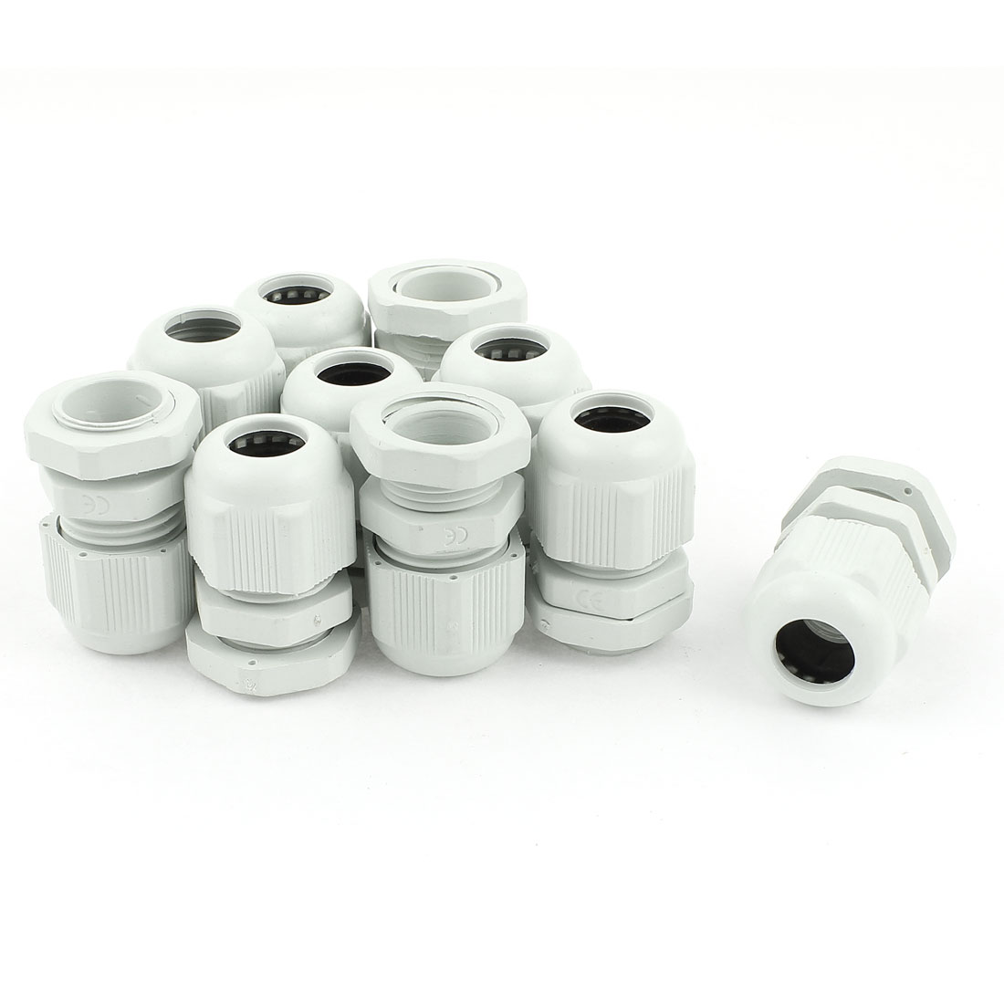 10 Pcs 5mm-10mm Diameter Cord Cable Glands Plastic Fastener Connector PG11 White