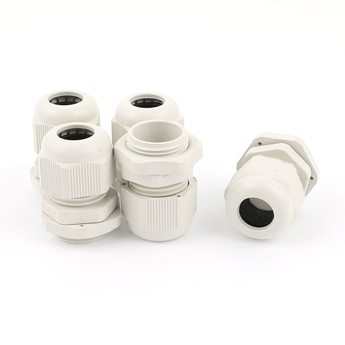 5 Pcs PG13.5 6mm to 12mm Waterproof Connector Adapter Plastic Cable Glands White