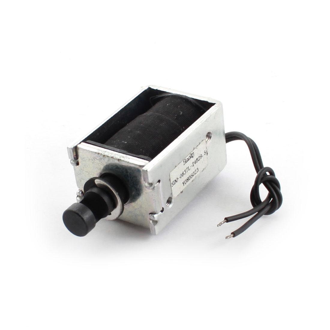 DC 24V 650g/6mm Open Frame Actuator Linear Pull Solenoid Electromagnet