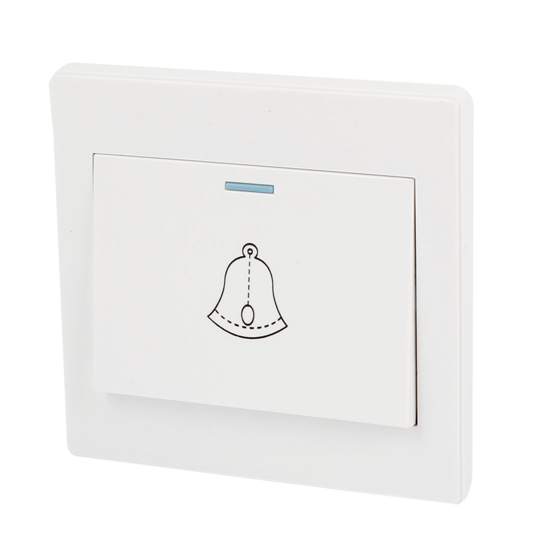 Bell Printed Square Shaped White 250V 10A Wall Mount Doorbell Switch Plate