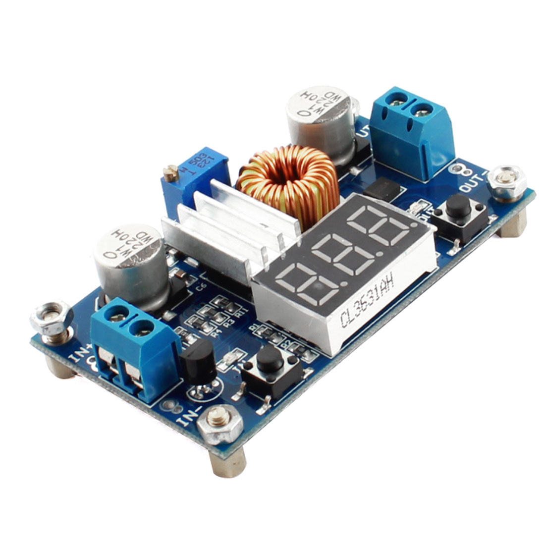 DC/DC 4-38V to 1.25-36V Adjustable Voltage Step-Down Module Board w Voltmeter
