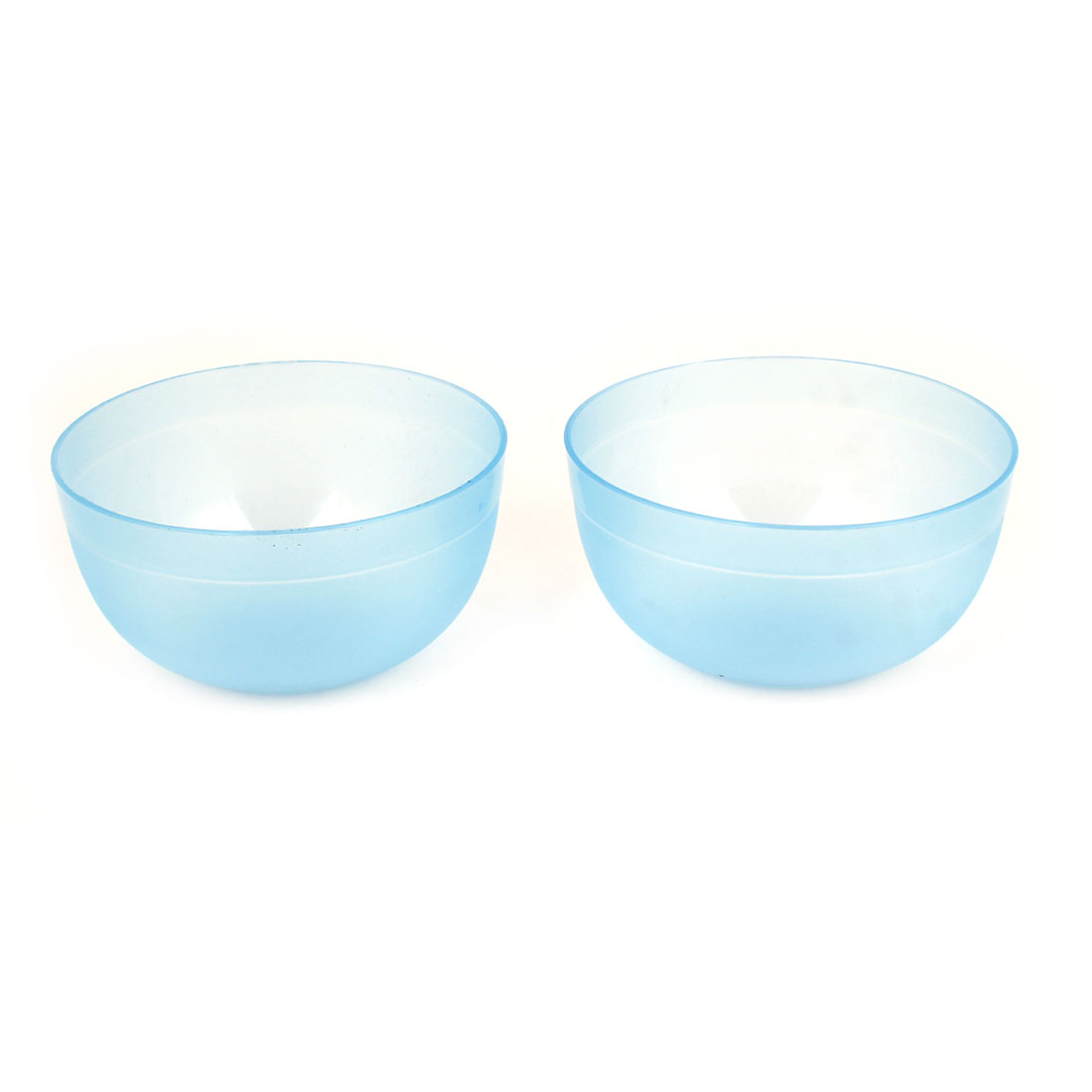 Lady Beauty Tool Clear Blue Plastic 9cm Dia Mask Mixing Bowl 2 Pcs