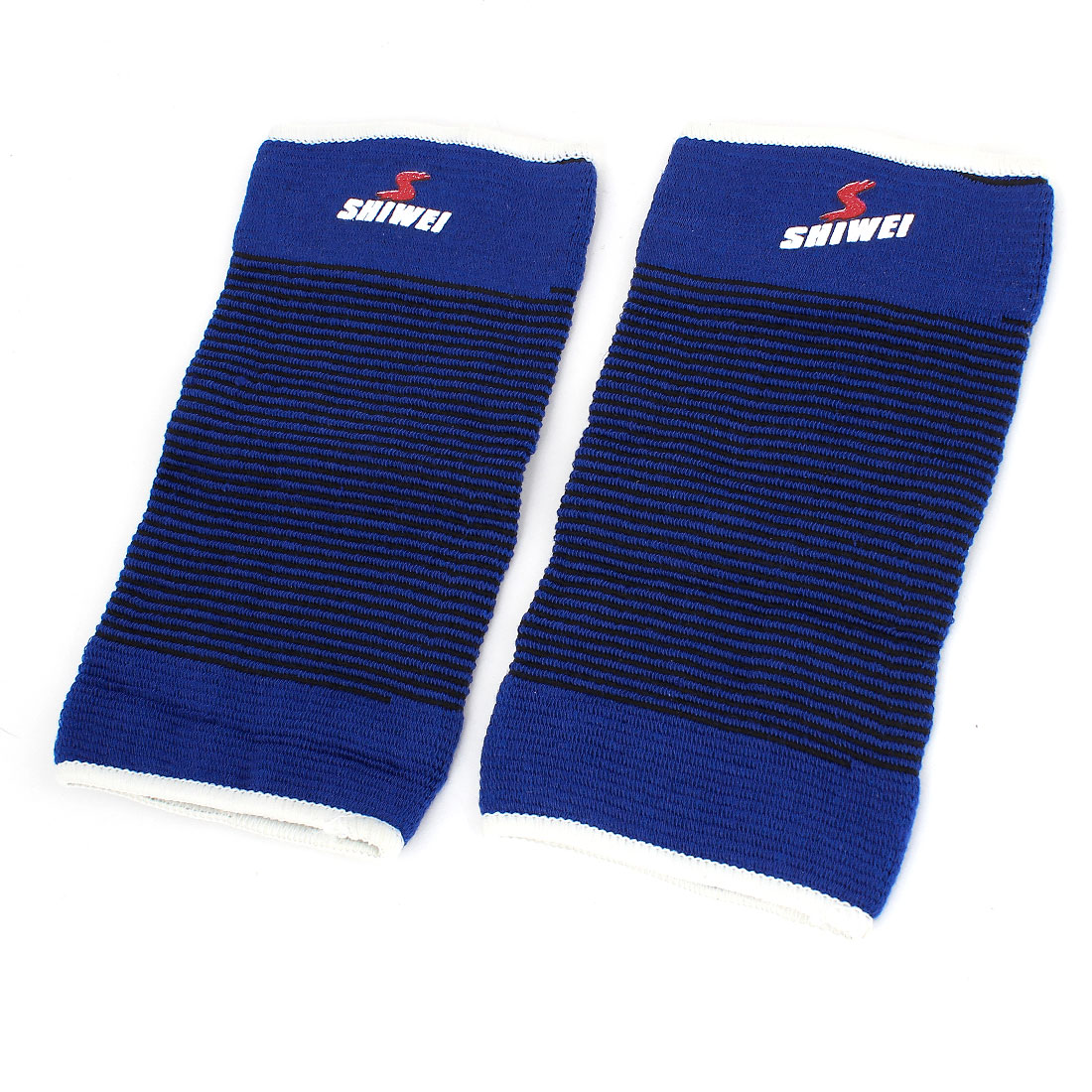 2 Pcs Blue Elastic Textured Knitting Elbow Protecting Sleeve Support