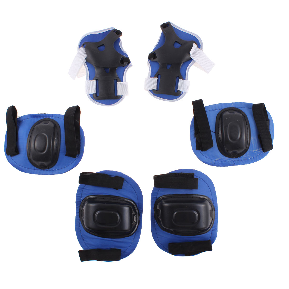 Set 6 in 1 Skiing Skating Palm Elbow Knee Support Protector Blue