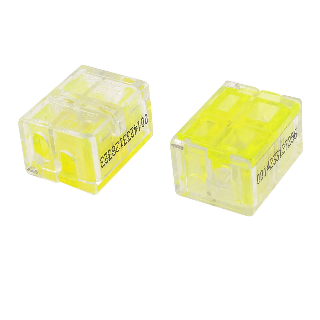 2 Pcs 1.0-1.5mm2 1.5-2.5mm2 I-Clamp Wire Cable Connector Case Yelllow Clear