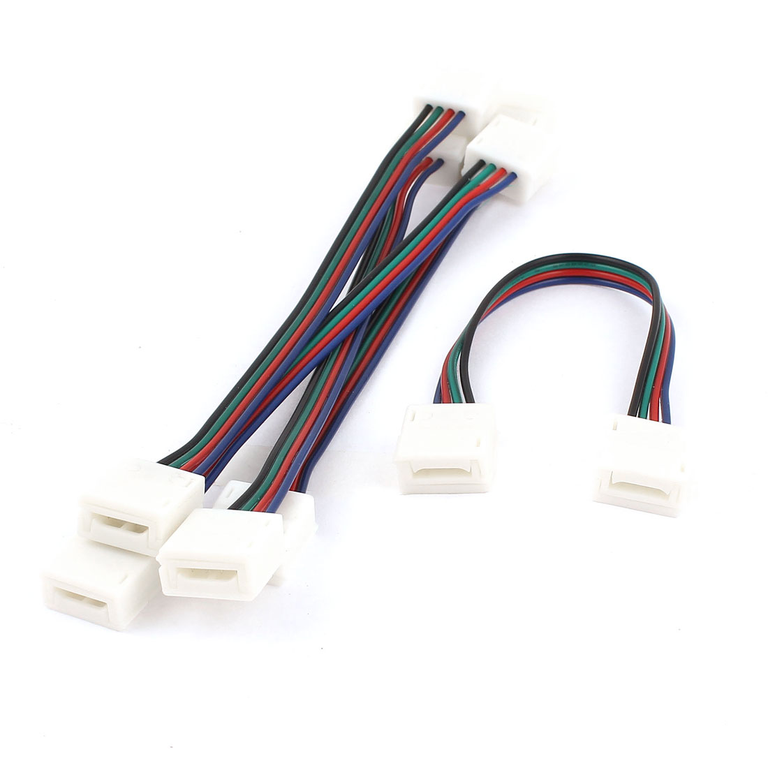 5pcs 15cm Long Double Terminal 4pin Adapter Wire Connector for Light Strip