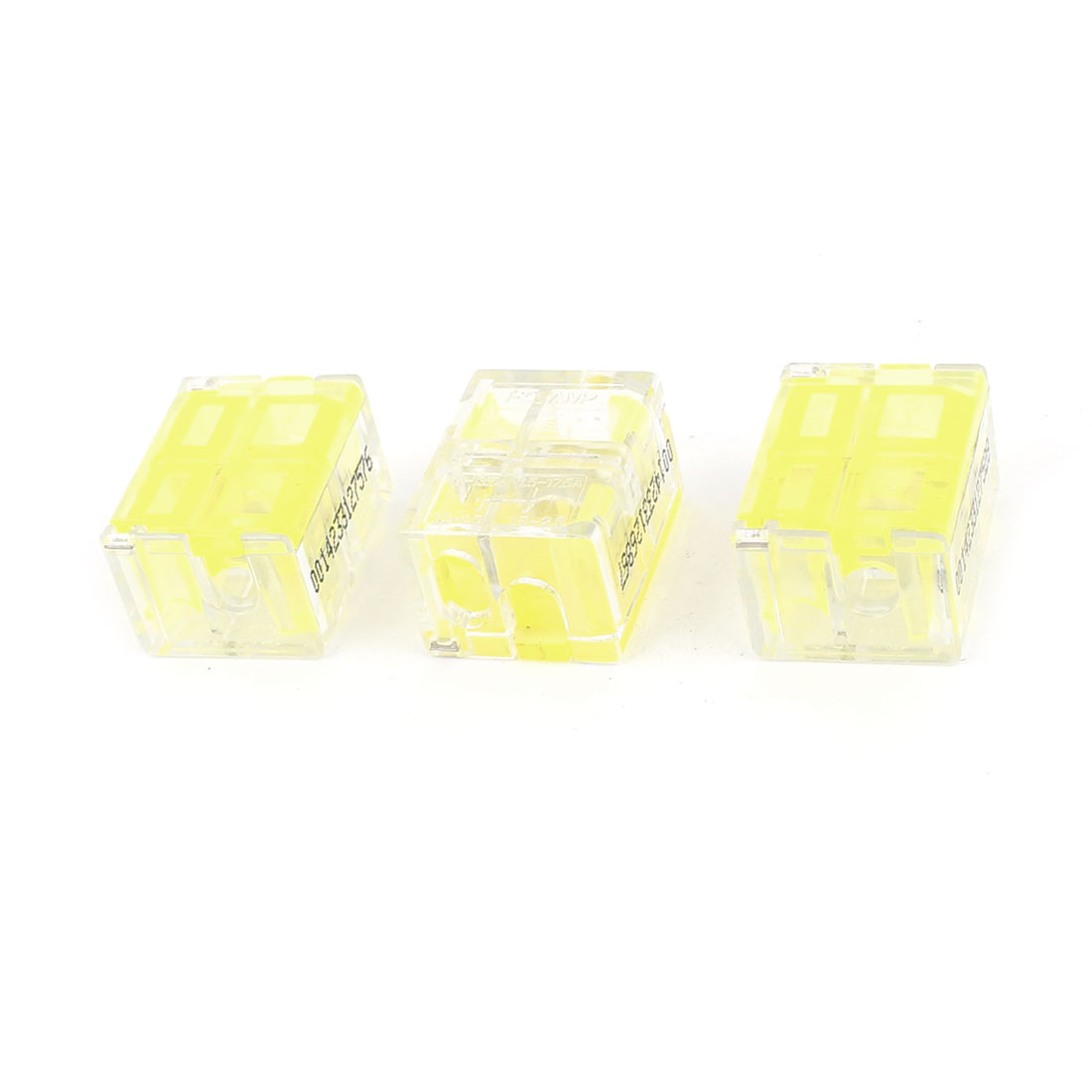 3 Pcs 1.0-1.5mm2 1.5-2.5mm2 I-Clamp Wire Cable Connector Case Yelllow Clear