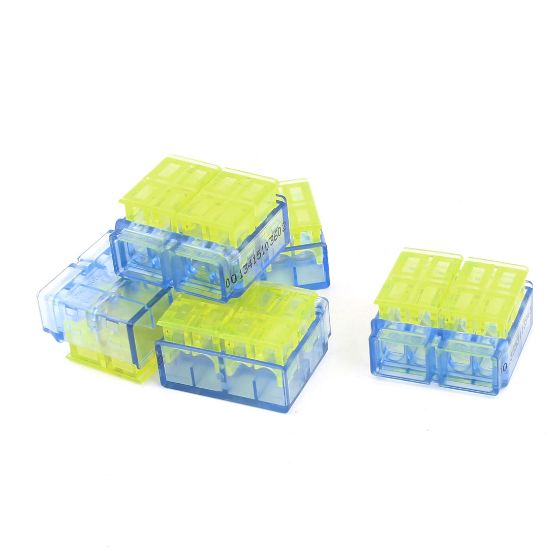 5 Pcs 1.0-1.5mm2 1.5-2.5mm2 I-Clamp Wire Connector Case Yellow Clear Blue