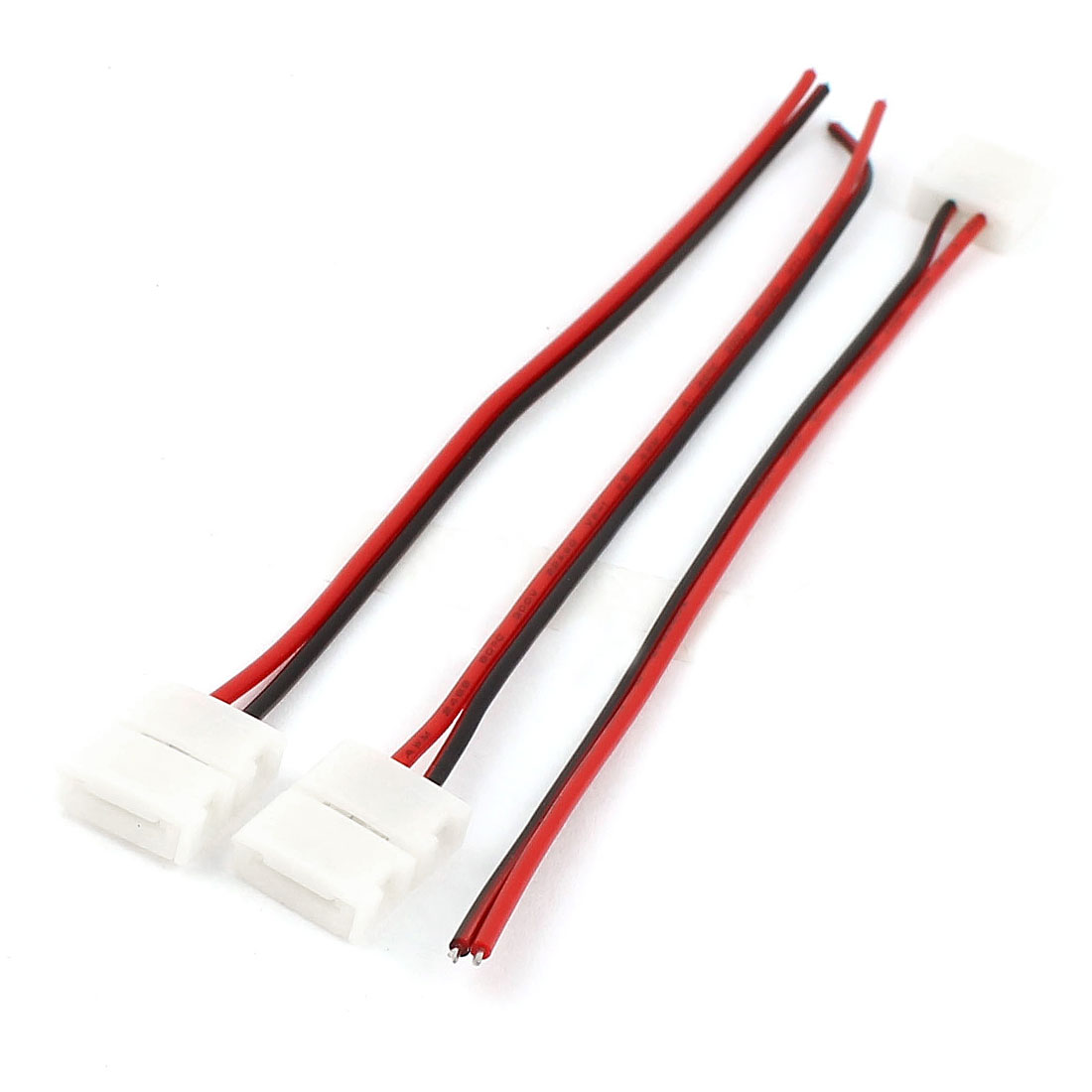 3pcs 15cm Long 8mm Width 2 Pole Wire Connector for 3528 Strip