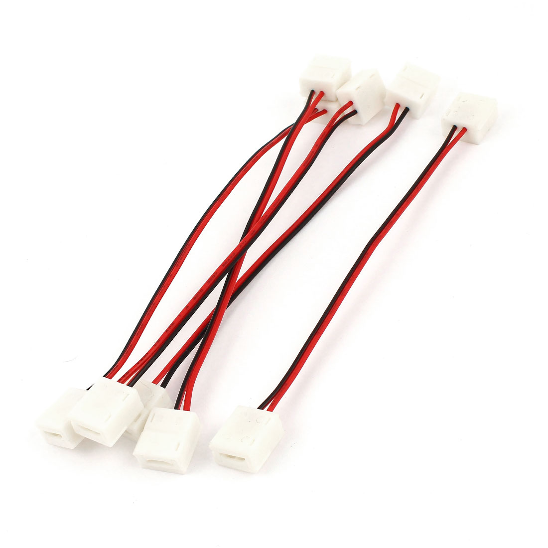 5pcs 15cm Long Double Terminal 2pole Adapter Wire Connector for 3528 RGB Light Strip
