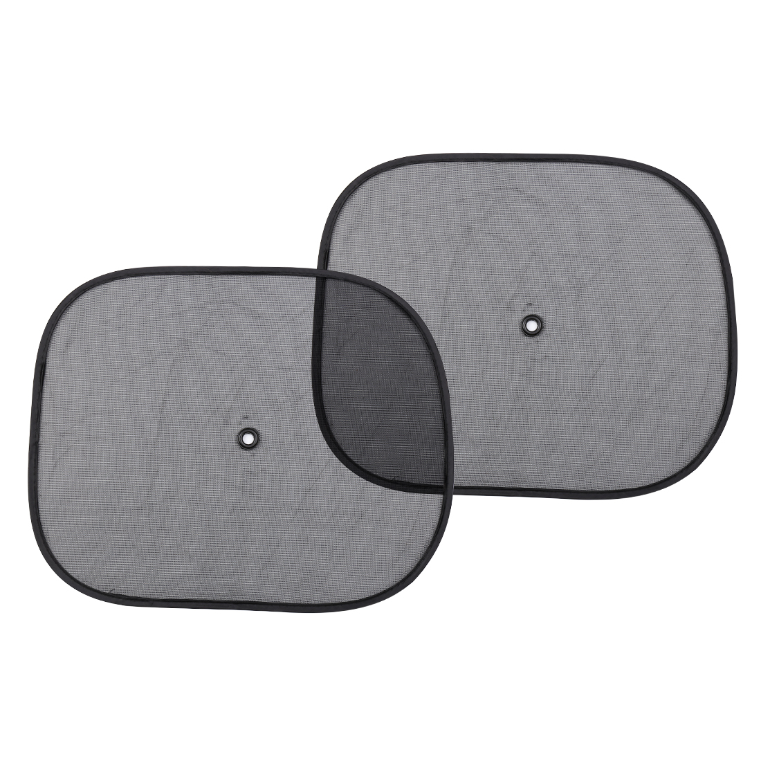Portable Car Side Window Nylon Meshy Screen Sunshade Black 2 Pcs