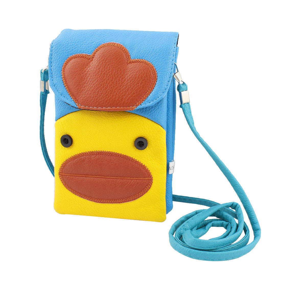 Faux Leather Duck Pattern Shoulder Pouch Bag Multicolor for Phone Camera