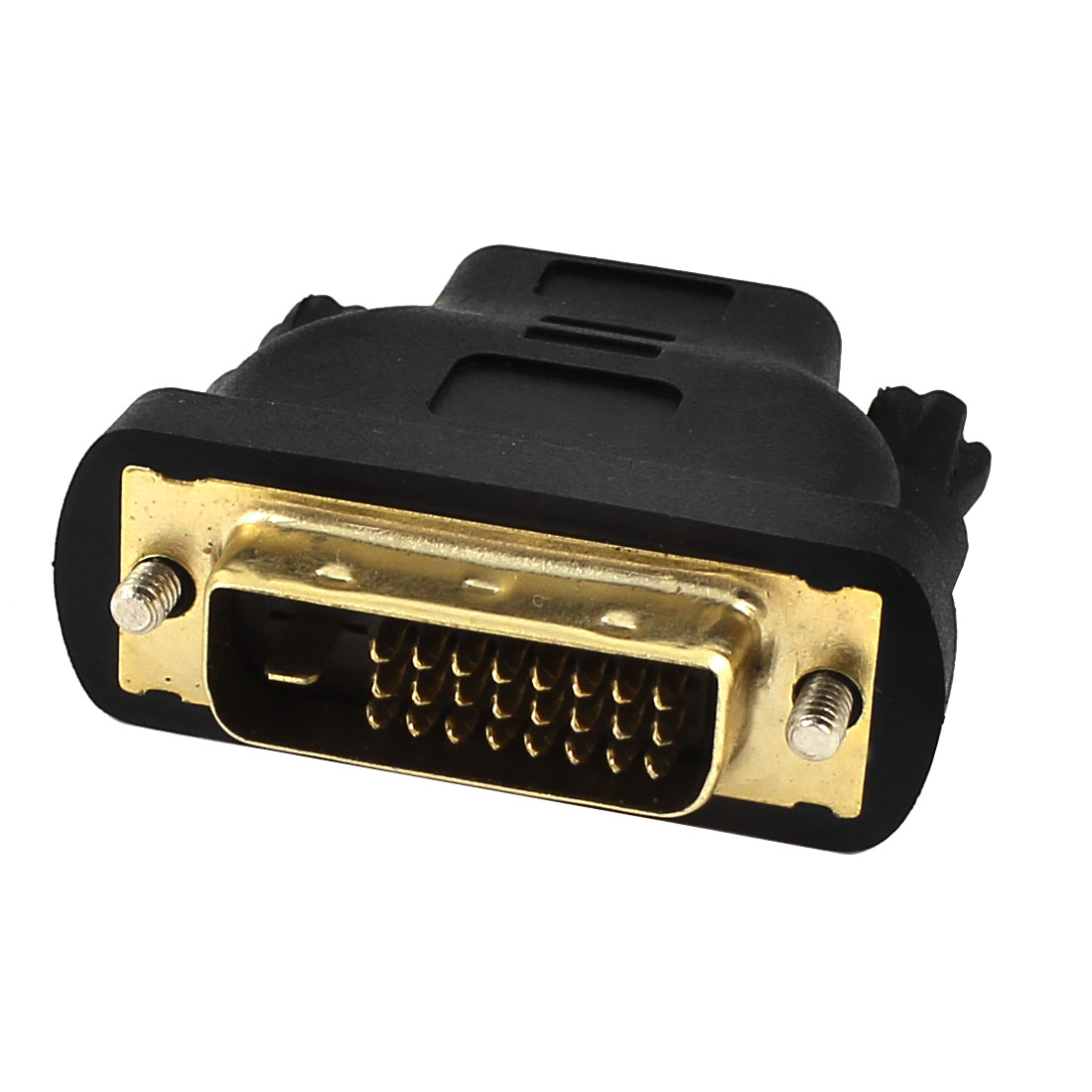 DVI-D Dual Link 24+1 Male to HDMI 19 Pin Female Jack Adapter Connector Black