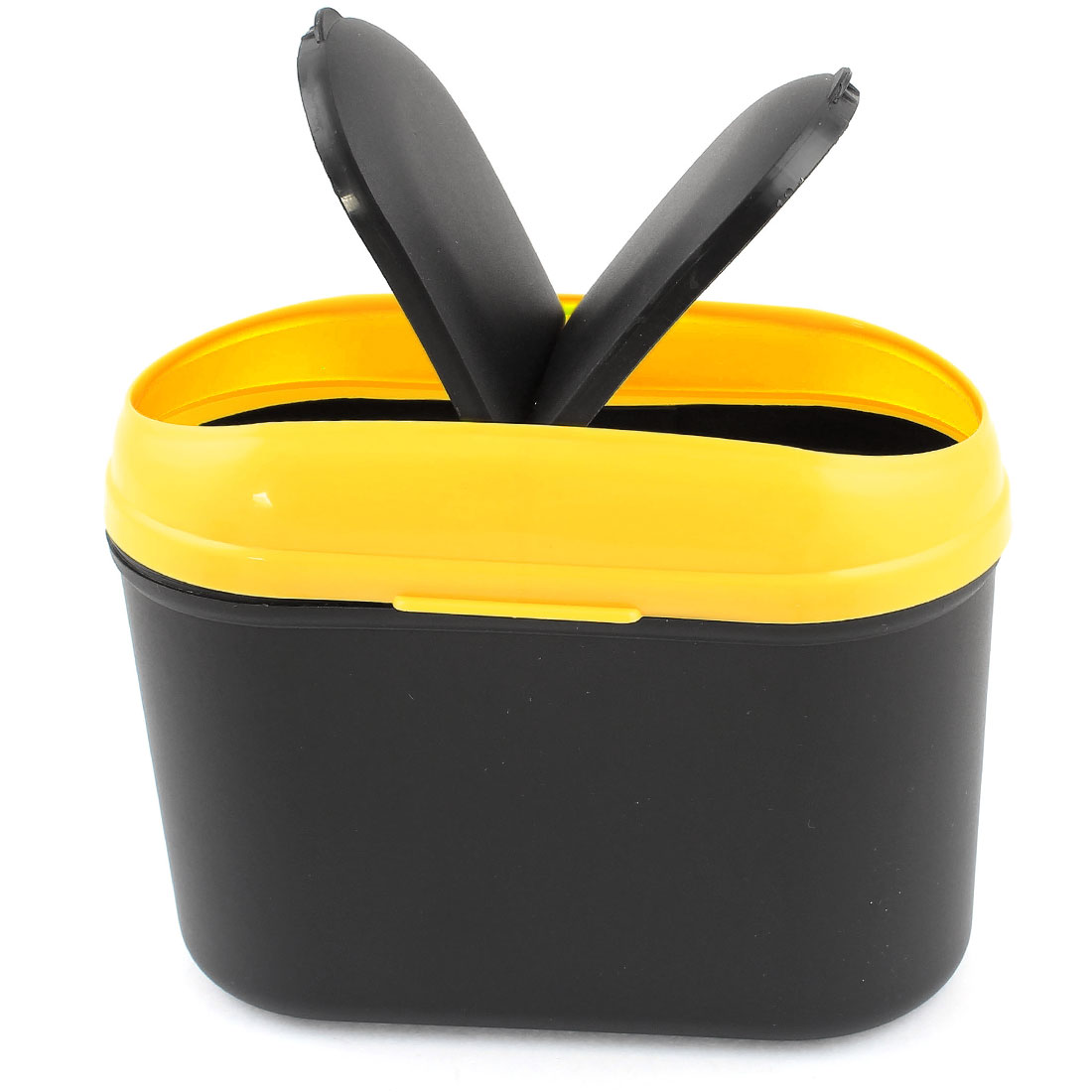 Car Auto Trash Dust Bin Litter Can Rubbish Container Black Yellow