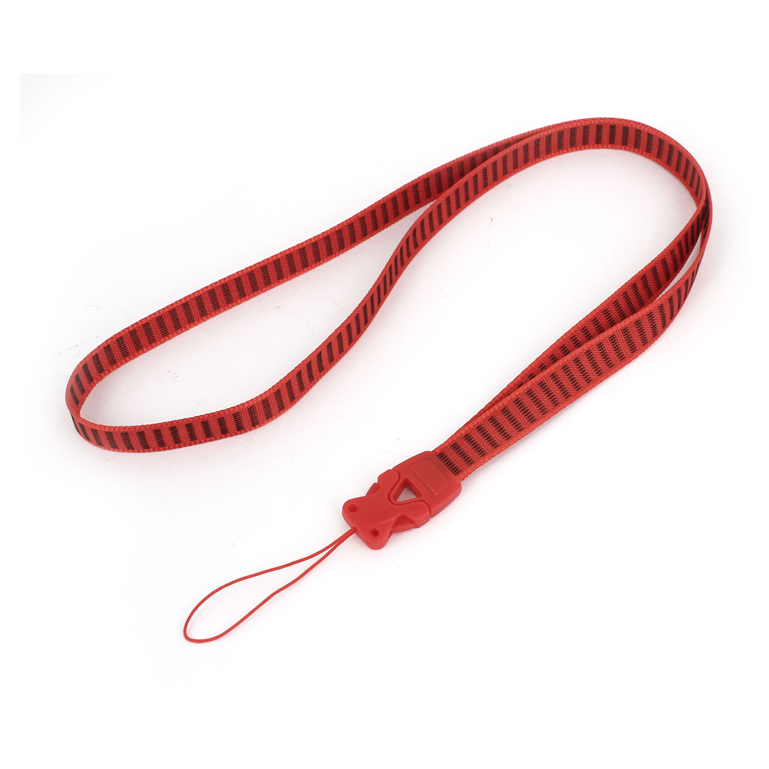 Office Name Card ID Badge Holder Neck Cord Strap Band String Lanyard Red