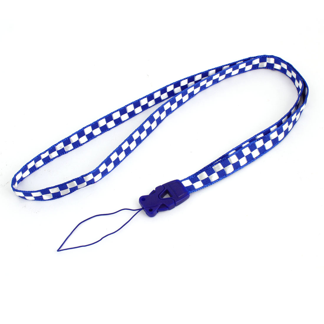 Office Name Card ID Badge Holder Neck Cord Strap Band String Lanyard Blue White