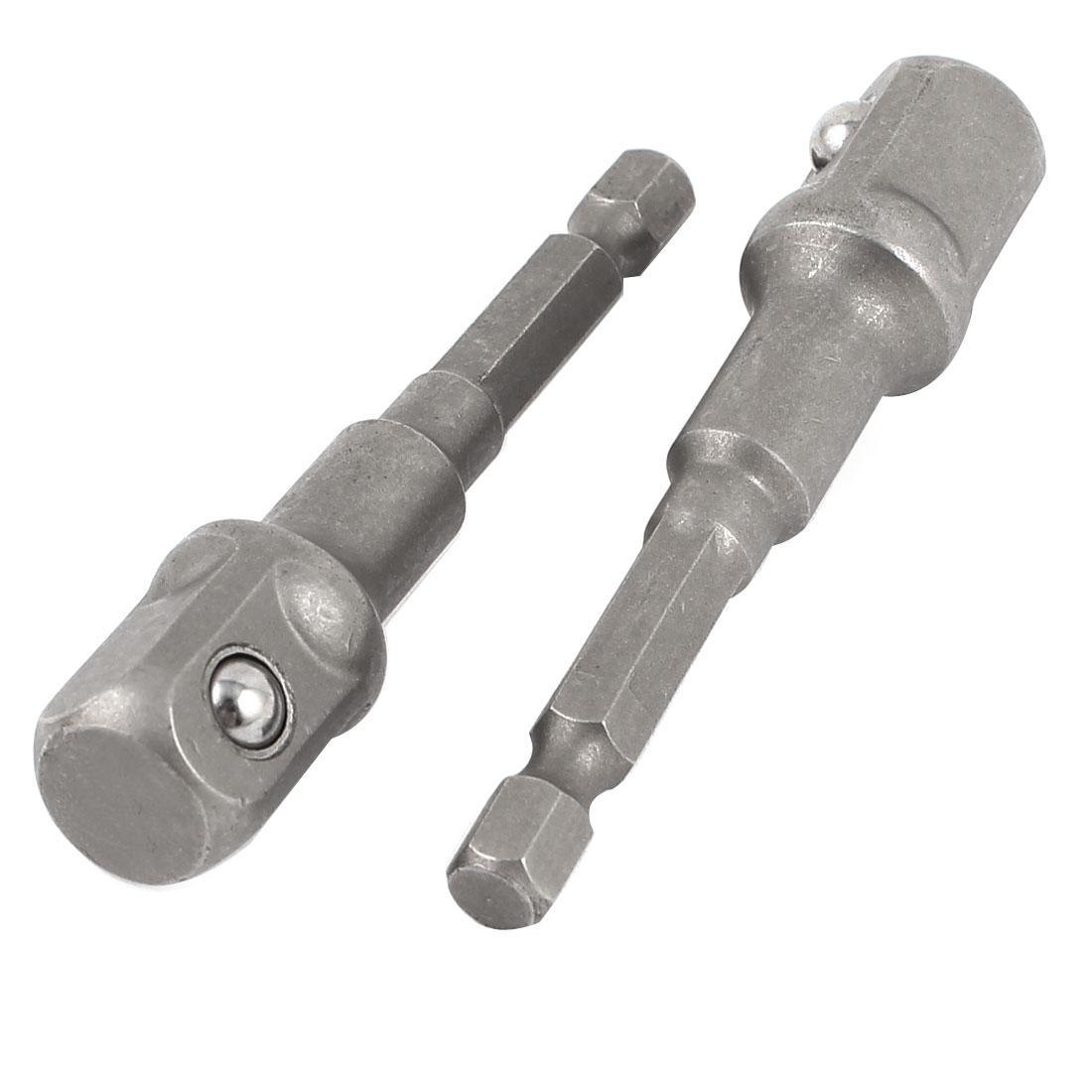 """2pcs Impact Driver/Drill 1/4"""" Shank to 1/2"""" Socket Adapter Set"""